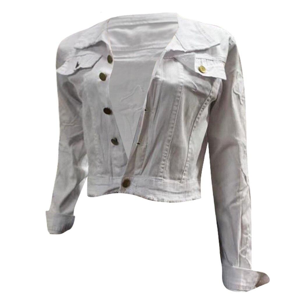 H553bd2f017a7483380172bce5e513c7fm 2019 Autumn And Winter Women Denim Jacket Vintage Cropped Short Denim Coat Long-sleeve Slim Jeans Coat For Women#J30