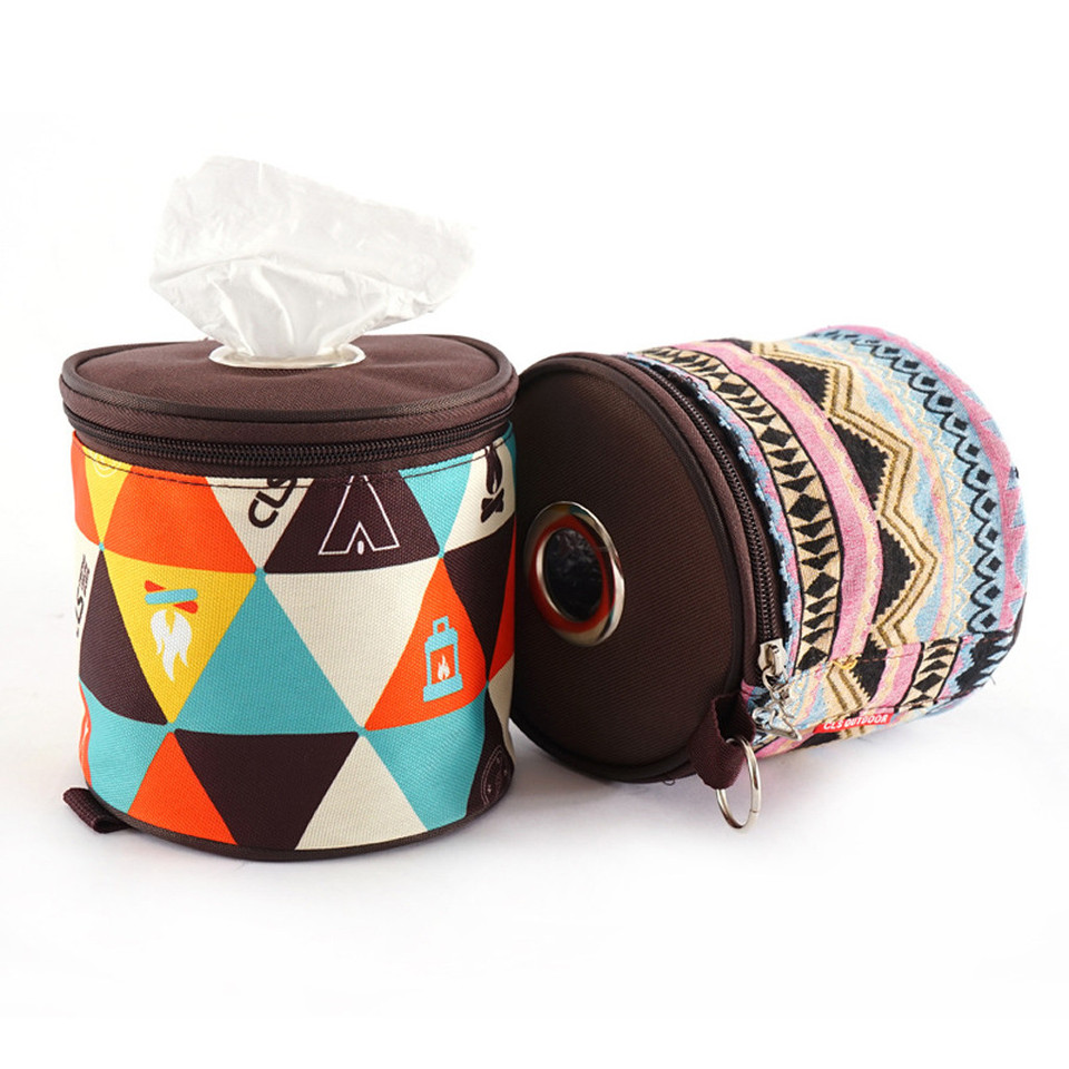 Outdoor Home Toilet Paper Holder Case Boxes Tissue Hanger Bags for Camping