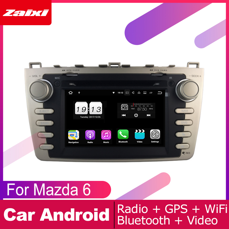 ZaiXi For <font><b>Mazda</b></font> <font><b>6</b></font> 2007~2012 Car <font><b>Android</b></font> <font><b>Multimedia</b></font> System 2 DIN Auto DVD Player GPS Navi Navigation Radio Audio WiFi image