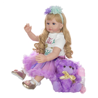 Reborn Baby Girl Doll Lifelike Realistic Baby Doll, 24 inch Weighted Baby with Clothes and Accessories, for Ages 3+