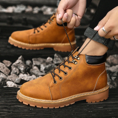 Winter Boots Footwear-Shoes Retro Fashion Mens Warm Ankle