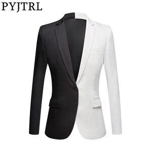 Image 1 - Пиджак PYJTRL мужской повседневный, Модный Блейзер, приталенный, для сцены, певцов, выпускного вечера