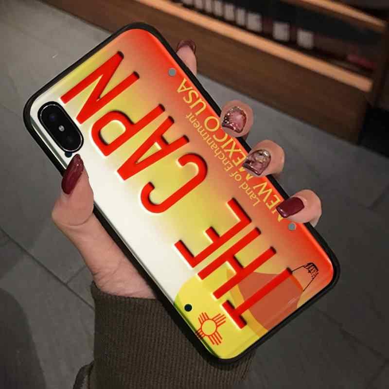 초자연적 인 번호판 번호 케이스 Iphone 5s Se 6 6s 7 8 Plus X Xs Max Xr 11 Pro Max 휴대 전화 액세서리