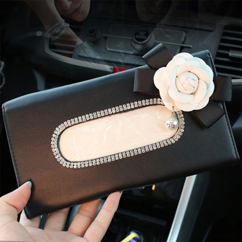 1 Pcs Crystal Tissue Boxes with Disposable Napkins Car Accessories Decoration Auto Accessorie