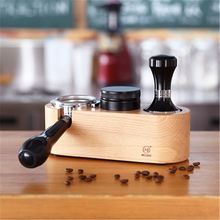 Coffee Tamper Holder for 51/53/58 MM Coffee Hammer Stand Espresso Tamper Pads Anti-Skid Tamping Holder Wood Press Powder Base