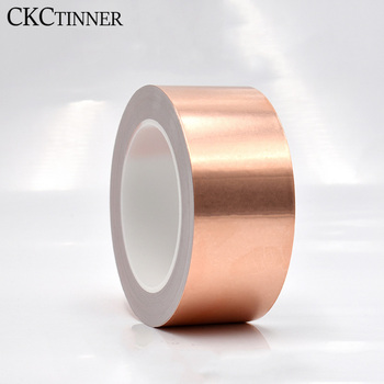 30 meters single-sided conductor copper foil tape EMI shielding heat resist tape 25mm 20m single side adhesive silver conductive fabric cloth tape for pc phone lcd cable emi shielding keyboard repair