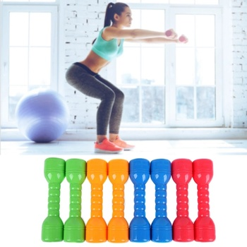 New 2Pcs Early Education Fitness Equipment Gift Kindergarten PE Exercise Home Dancing Props Children Dumbbells Hand Weights Gym