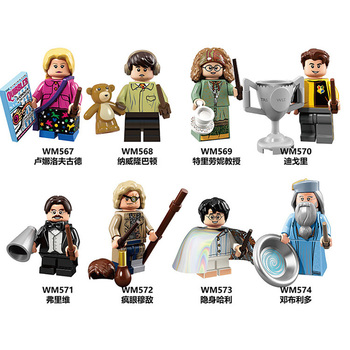 LEGO Blocks Figure Dolls 8Pcs/Set Harry Potter College Classic movie roles Children Toy Gift Compatible with Lego blocks image