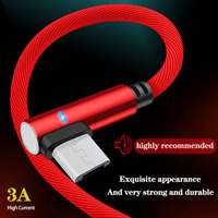 cable samsung 90 Degree Micro USB Cable 3A Fast Charger USB Cord elbow Nylon Data Cable for Samsung Sony Xiaomi Android Phone Line Power Bank (1)