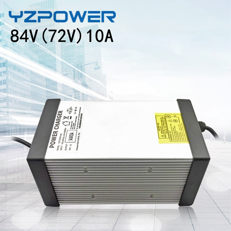 YZPOWER 84V 6A 7A 8A 9A 10A Li-ion Chargers  Lithium Battery Charger for 72V 20S Lithium ion Battery Highpower smart fast charge