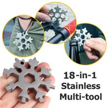 18 in 1 snowflake tool card combination multifunctional snowflake screwdriver snowflake wrench tool snowflake tool card snowflake