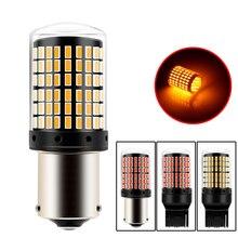 BA15S 1156 12V P21W  LED T20 7440 W21W W21/5W 1157 BAY15D led Bulbs 144smd Canbus Lamp for Car Turn Signal Light