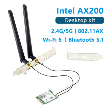 3000 Мбит/с 802.11ax Wi-Fi 6 Настольный комплект Intel AX200 AX210 Bluetooth 5,1 Wifi антенна карта 2,4G/5 ГГц MU-MIMO AX200NGW Wifi адаптер