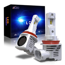 Aileo carro farol lâmpada h11 led h8 h9 h16 (jp) hb3 hb4 9005 9006 12000 lúmen plug-n-play extremamente brilhante 6000k zes chips 12v 24v