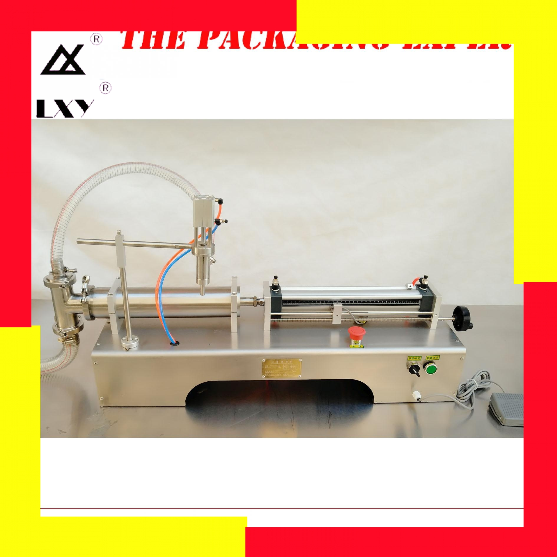 200-2500ml Pneumatic Piston Liquid Filler Shampoo Gel Water Wine Milk Juice Vinegar Coffee Oil Drink Detergent Filling Machine
