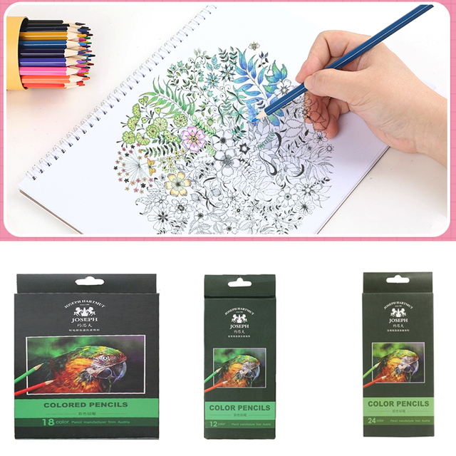 72/36/48colors Drawing Pencil Set Colored Pencil Set Artist Painting Pencil Wooden Graffiti Stationery Crayons Multifunctional