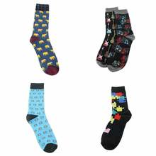 Крутые носки в стиле хип хоп с животными для скейтборда homme