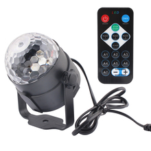 Sound Activated 7 Colors DJ Disco Ball Lumiere 3W novelty lights Laser Projector RGB Stage Lighting effect Lamp KTV Music Party