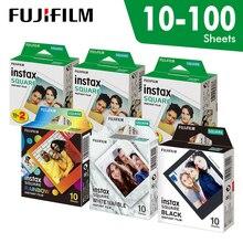 فيلم Fujifilm Instax مربع أبيض فوري حافة فيلم 10 إلى 100 ورقة لكاميرات فوجي SQ10 6 20 SP2 الهجين