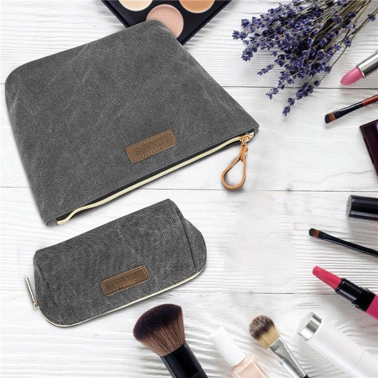 Sac de maquillage femmes sacs hommes grand Nylon imperméable voyage sac cosmétique organisateur cas nécessaire maquillage lavage trousse de toilette
