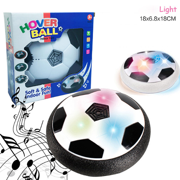 Air Power Soccer 18cm Disc Indoor Football Toy Colorful Music Light Flashing Ball Toys Kids Sport Game Kid's Educational Gift