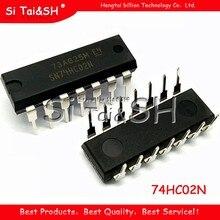 10 pces 74hc02n dip14 74hc02 dip sn74hc02n dip-14 ic novo e original