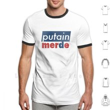Putin, t-shirt en coton 6xl, Bleu, Blanc, Rouge, pour Rugby, Football, Zidane