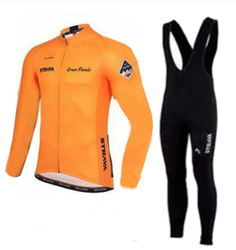 2019 Strava Men's Cycling Jersey Long sleeve set MTB Bike Clothing Maillot Ropa Ciclismo Hombre Bicycle Wear 9D GEL bib pants