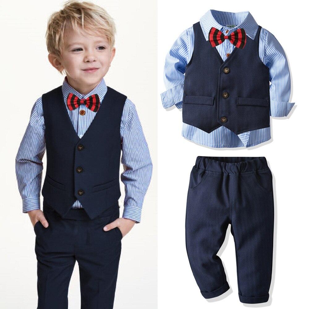 Garçon costume veste costume point costume 4 pièce garçon enfants mariage chemise + pantalon + blazer + nœud papillon enfants costume enfants