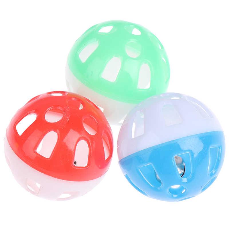 1 قطعة 3.8 سنتيمتر الحيوانات الأليفة الببغاء لعبة الطيور الجوف جرس الكرة birds مضغ متعة قفص اللعب