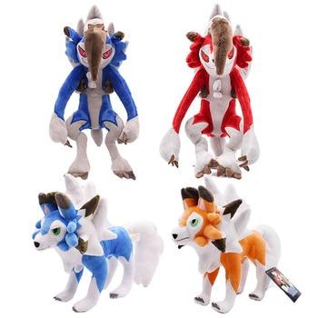 30cm Lycanroc noche Peluche muñeca suave Animal juguetes calientes Anime dibujos animados Lycanroc noche SOL/luna Peluche Animal de Peluche suave muñeco de Peluche