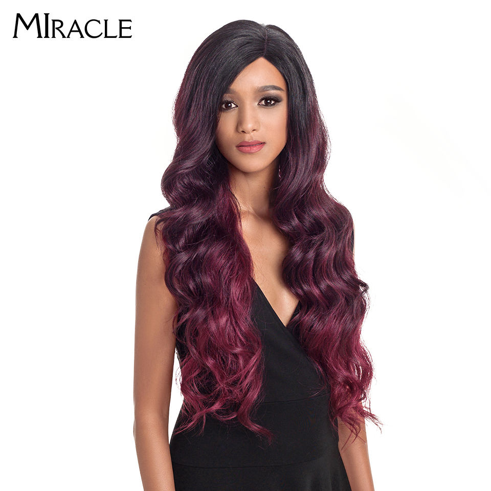 Miracle Ombre Wig Body Wave 1.5*13.5 Side Lace Front 150 Density 28