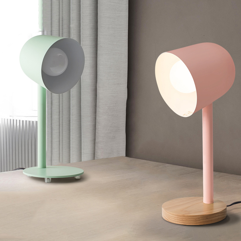 Nordic Iron Wood Table Lamp Home Decor Table Lamps for The Bedroom Bedside Studyroom Office Living Room Eye Protection Desk Lamp|LED Table Lamps| |  - title=