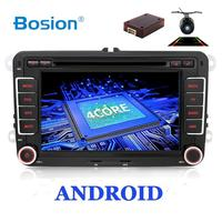 SALE! 2Din Android Car Audio Car DVD Player GPS Radio For Volkswage GOLF 6 Polo Bora B6 PASSAT Tiguan SKODA OCTAVIA OBD optional