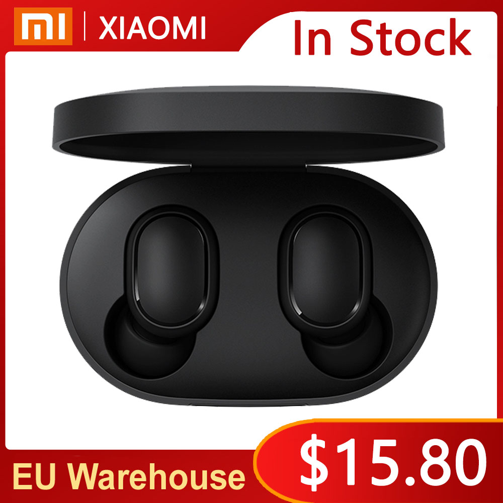 Xiaomi TWS Bluetooth 5 0 Earphone Ture Wireless Headphones Noise Cancellation Stereo Bass With Mic Handsfree Earbuds AI Control
