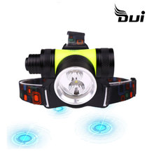 DUI Manufacturer direct sale XML T6 double light source diving headlamp rechargeable led headlamp powerful head lamp dui xml t6 powerful usb recharged 3t6 outdoor aircraft led flashlight headlamp