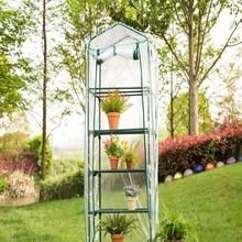Garden Greenhouse Household-Plant PVC Warm 187x69x49cm Five-Floors Easy-Installation