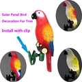 Solar Power LED Light Bird Parrot Lamp With Clip Night Lights for Outdoor Garden Path Ornament C66