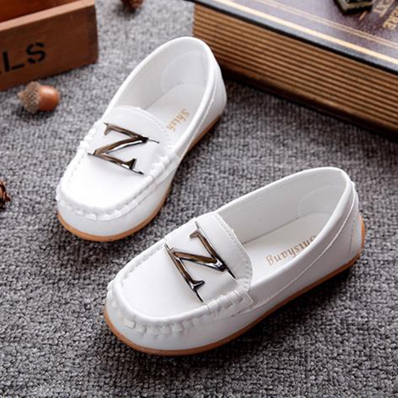 New Kids Soft Loafers Shoes Boys Fashion Sneakers Children Massage Casual Shoes Kids Girls Flat Leather Shoes Size 21-36
