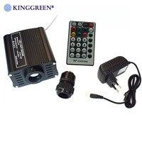 1x de alta qualidade dc12v rgbw cor led 16w fibra óptica motor luz com 24 chave rf controle remoto frete grátis