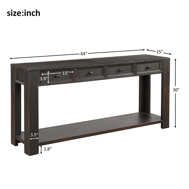 Console Side Entryway Sofa Table  2