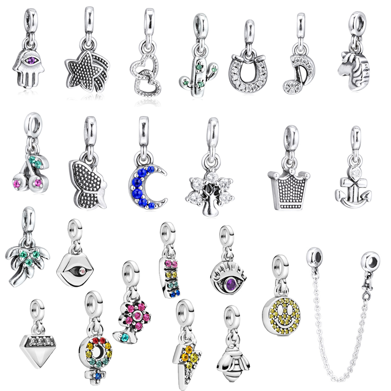 25 Designs Fashion Me Style Small Hole Charm Beads For Me Collection Charms Bracelets Women Silver 925 Jewelry DIY Making Dangle