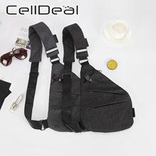 Bolso de hombro de bolsillo Personal para hombre, bolsa cruzada de pecho antirrobo para bicicleta, impermeable, informal, para deportes de ciclismo, portátil