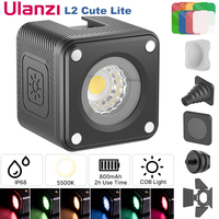 Ulanzi L1 Pro /L2 Cute Lite 10m IP68 impermeabile Mini LED Video Light lampada subacquea dimmerabile a LED per videocamera GoPro e DSLR