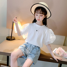 Summer Girls Clothing Set 2020 Children Fashion White T-Shirt & Denim Shorts 2Pcs Kids Outfits Baby Girl Clothes 6 8 10 12 Years baby girl summer clothing set 2017 kids girls boutique outfits 2pcs pants shirts brand fashion baby white shorts and black pants
