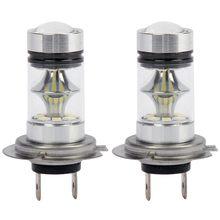 1 пара высокой мощности Светодиодный H7 Лампа 100 Вт 20 светодиодный автомобильный противотуманный светильник головной светильник s 6000K белый