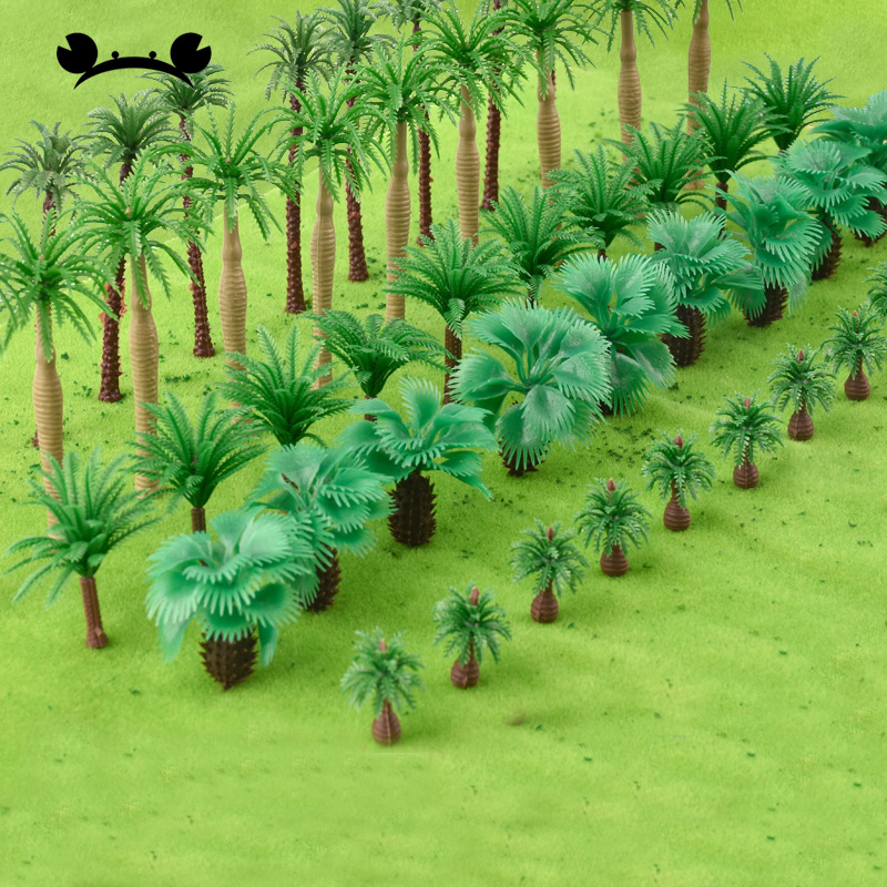 40pcs HO OO Z TT Scale Plastic Miniature Model Trees For Building Trains Railroad Layout Scenery Landscape Accessories Toys