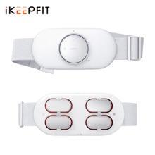 Ikeepfit inteligente sem fio da cintura massageador elétrico massagem abdominal lombar aquecimento de baixa frequência pulsado infravermelho luz alívio dor