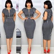Новое летнее элегантное модное платье в африканском стиле для женщин размера плюс с v-образным вырезом длиной до колен