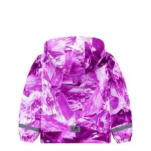 Image 3 - Marke Wasserdichte Warme Fleece Lavendel Druck Kind Mantel Baby Mädchen Jacken Kinder Oberbekleidung Kinder Outfits Für Höhe von 98 152cm